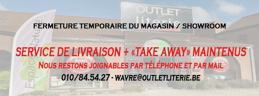 FERMETURE TEMPORAIRE DU MAGASIN/SHOWROOM
